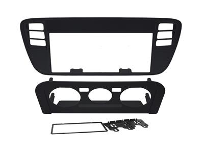 Contra Frente VW UP 14 2 DIN Preto - REF. 89-A13